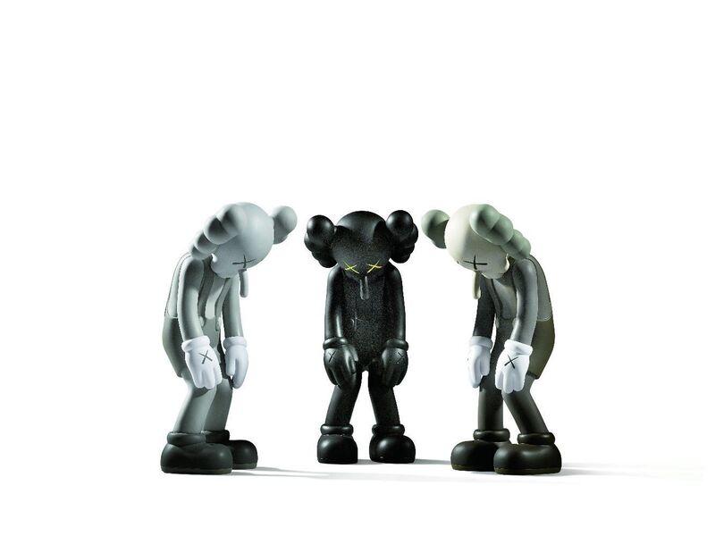 KAWS, 'Small Lie (Brown, Black & Grey)', Sculpture, Three painted vinyl multiples, Roseberys