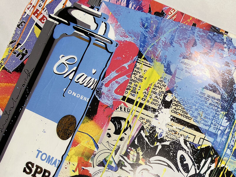 Mr. Brainwash, ''Max Spray (collage)' ', 2010, Ephemera or Merchandise, Offset lithograph on satin poster paper., Signari Gallery