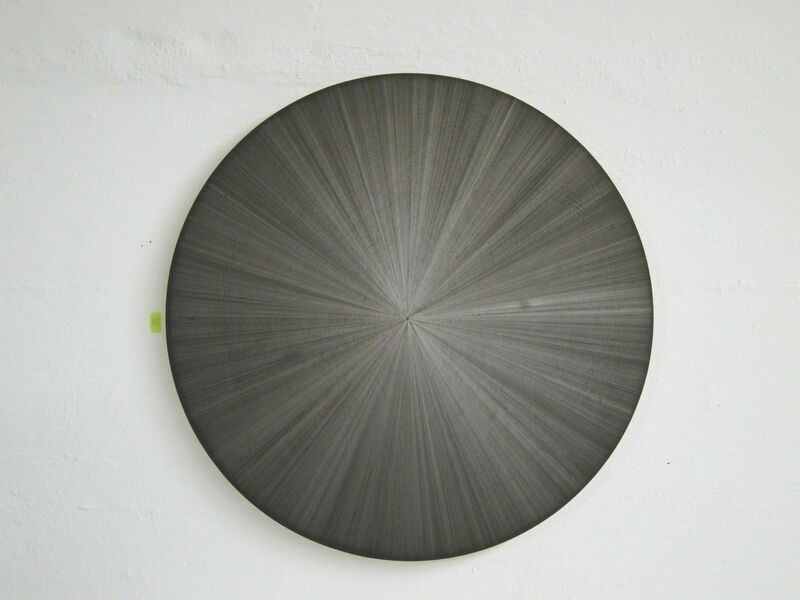 Michelle Grabner, 'Untitled', 2012, Painting, Silverpoint and black gesso on canvas, Anne Mosseri-Marlio Galerie