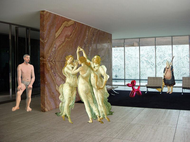 Artemis Potamianou, 'Re-view series:  Morning cleaning', 2011, Print, Metal Print, IFAC Arts