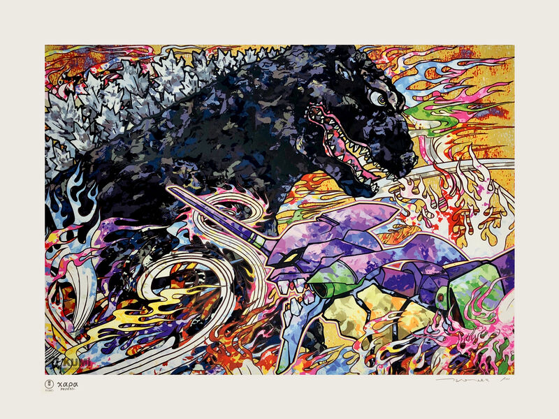 Takashi Murakami, 'Homage to Director Hideaki Anno: Godzilla Resurgence & Evangelion', 2019, Print, Silkscreen, Kumi Contemporary / Verso Contemporary