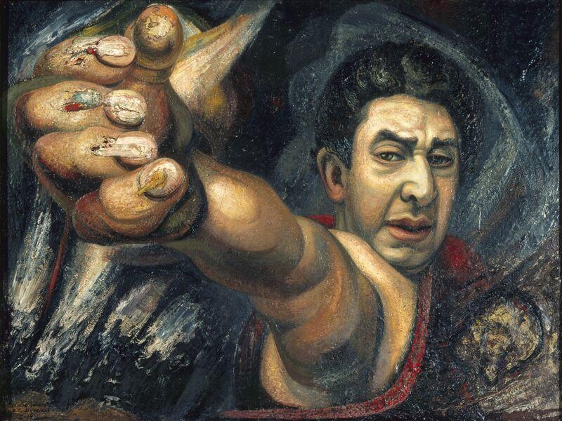 David Alfaro Siqueiros, 'Self Portrait (El Coronelazo)', 1945, Painting, Pyroxilin on masonite, Art Resource
