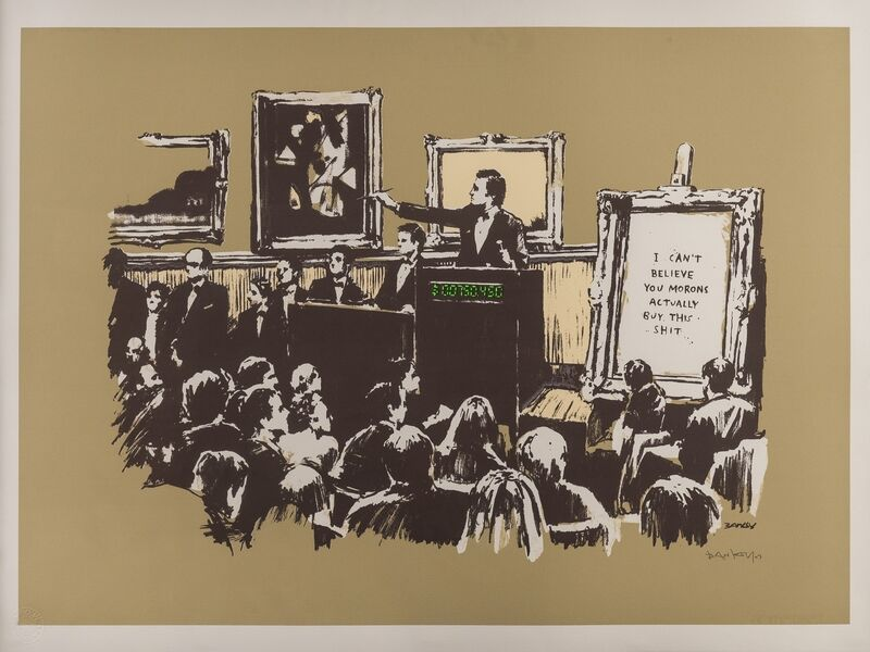 Banksy, 'Morons (Sepia)', 2007, Print, Screenprint in colours, Forum Auctions