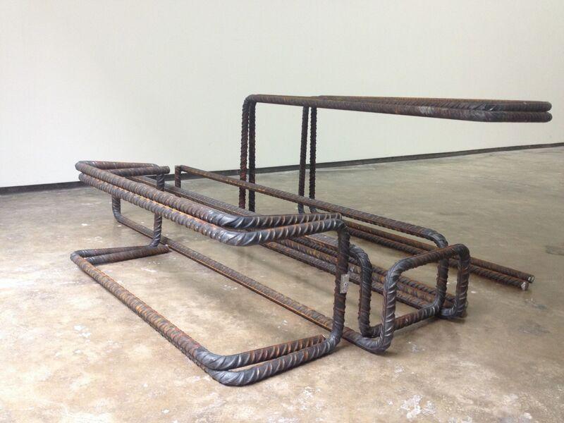Arrieta - Vázquez, 'Armaduras', 2013, Sculpture, Curved corrugated steel. 8 pieces, adhoc