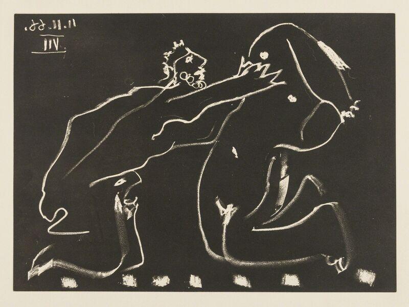 Pablo Picasso, 'Au Théâtre: Déclaration D'Amour (Baer 1390Ba; Bloch 1479; Cramer Books 146)', 1966, Print, Aquatint, Forum Auctions