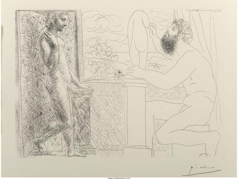 Pablo Picasso, 'Sculpteur et son Modèle devant une Fenêtre', 1933, Print, Etching on Montval laid paper, Heritage Auctions