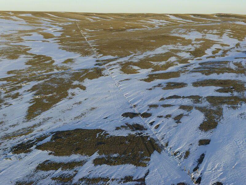 Andrew Moore, 'Fence Line Drift, Dawes County, Nebraska', 2013, Photography, Archival Pigment Print, Yancey Richardson Gallery