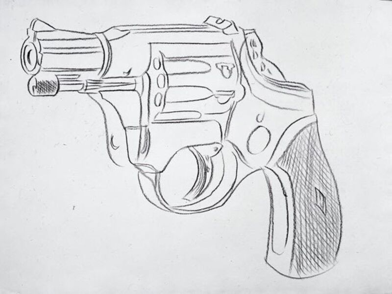 Andy Warhol, 'Gun', 1981-1982, Drawing, Collage or other Work on Paper, New York Academy of Art