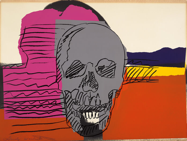 Andy Warhol, 'Skull', 1976, Print, Screenprint in colours, on Strathmore Bristol paper, the full sheet., Phillips
