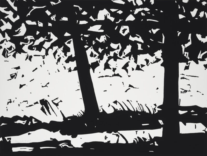 Alex Katz, 'Alex Katz, Maine Woods 1', 2013, Print, Woodblock on paper, Oliver Cole Gallery