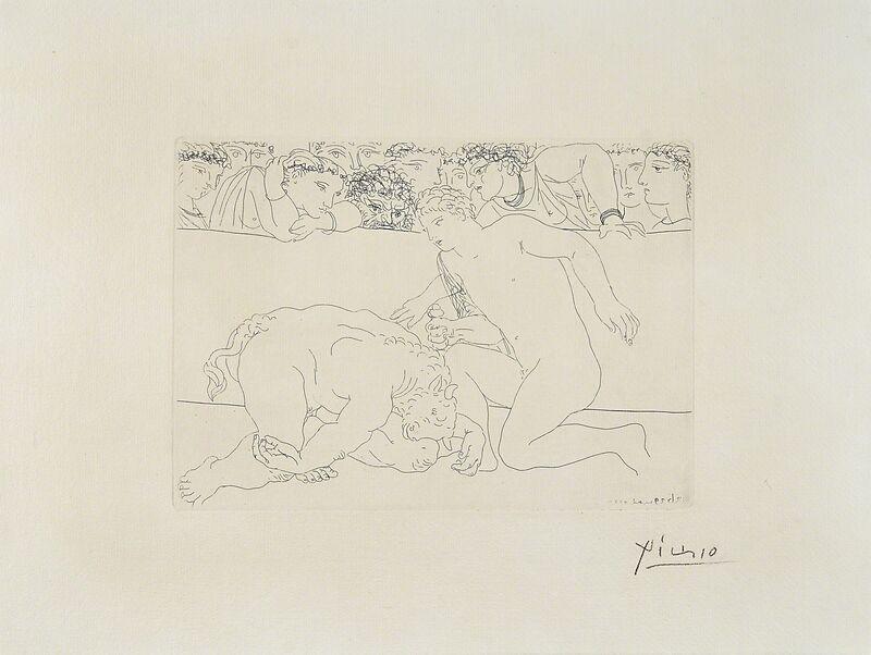 Pablo Picasso, 'Minotaure vaincu from from La Suite Vollard', 1933, Print, Etching on Montval paper with Vollard watermark, Rago/Wright/LAMA