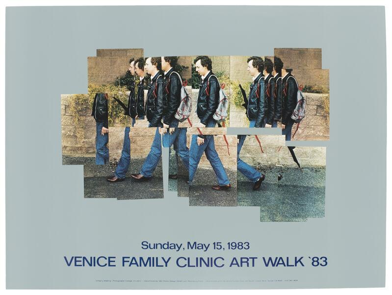 David Hockney, 'Venice Walk 1983 (Gregory Walking 1983) ', 1983, Posters, Offset lithograph on paper, Petersburg Press