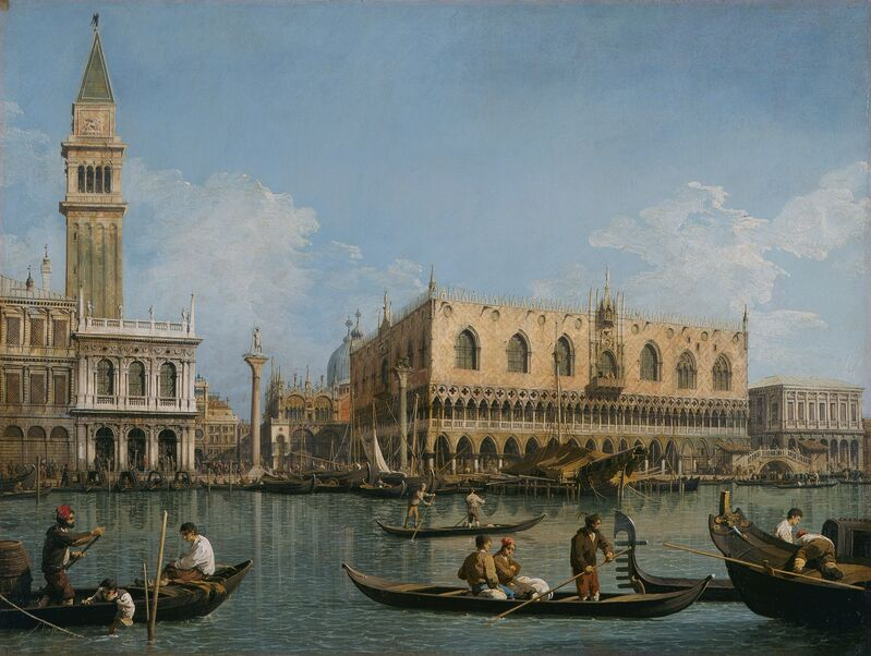 Canaletto, 'View of St. Mark's from the Punta della Dogana', 1740-1745, Painting, Oil on canvas, Pinacoteca di Brera