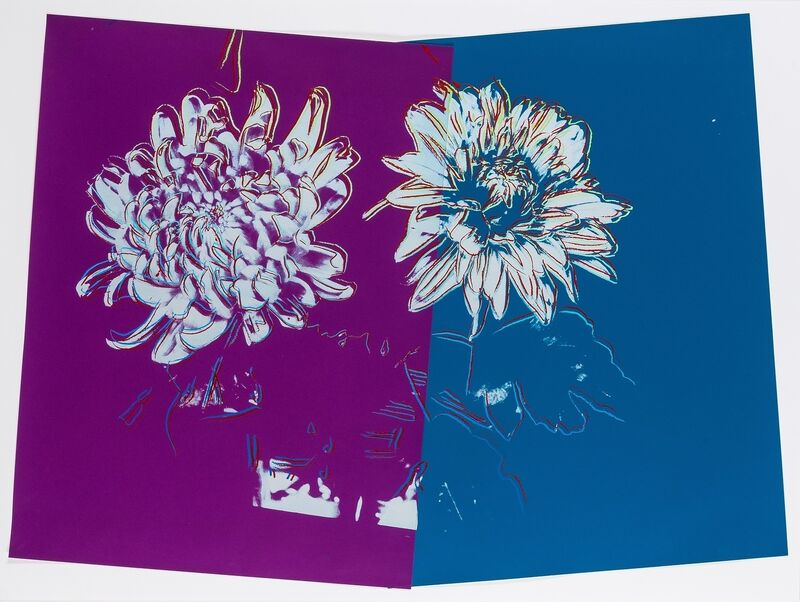 Andy Warhol, 'Kiku', c. 1983, Mixed Media, Silkscreen ink and paper collage on paper, Forum Auctions