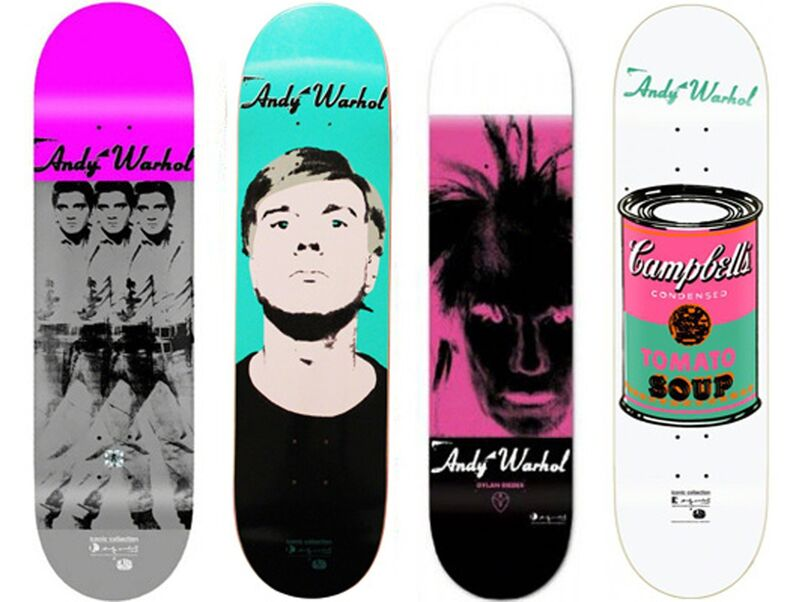Andy Warhol, 'Iconic Series - Skateboad set 4', 2013, Print, Screenprint on Seven-ply Canadian Maple, EHC Fine Art Gallery Auction