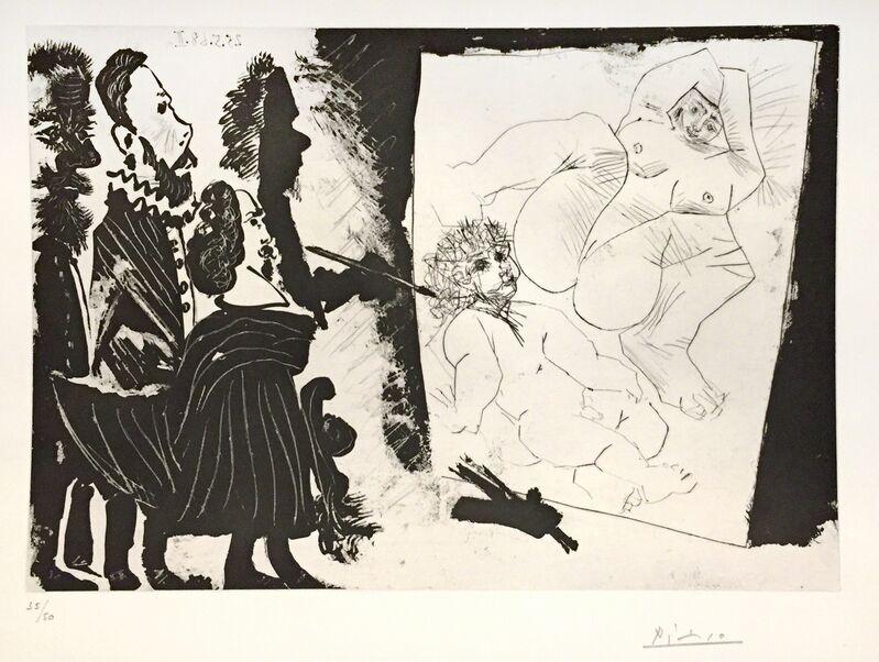 Pablo Picasso, 'Patron et sa Suite en Visite à l'Atelier ', 1968, Print, Aquatint, Dry-point, Scraper, Wallector
