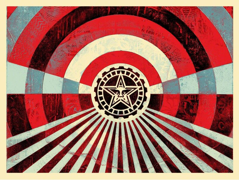 """Shepard Fairey, 'Tunnel Vision """"Blue"""" Special Edition', 2017, Print, Signed & Numbered, New Union Gallery"""