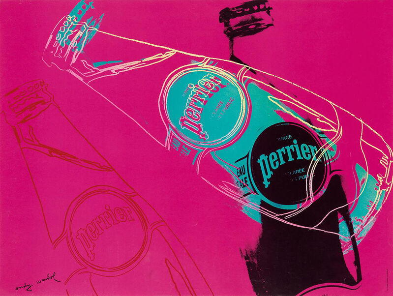 Andy Warhol, 'Perrier (Pink)', 1983, Posters, Offset lithograph, EHC Fine Art Gallery Auction