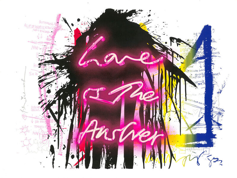 Mr. Brainwash, 'Love is the Answer', 2019, Painting, Mixed media on paper, Tufenkian Fine Arts