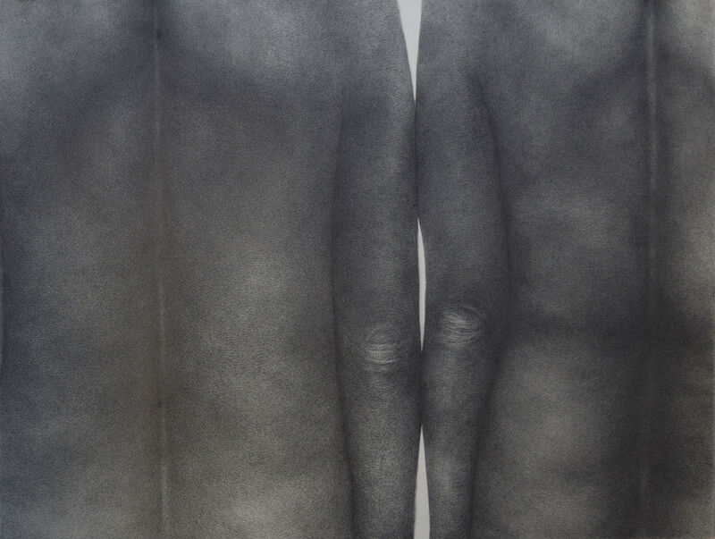 Diana Quinby, 'Couple de dos IV', 2020, Drawing, Collage or other Work on Paper, Crayon graphite sur papier, Galerie Arnaud Lefebvre