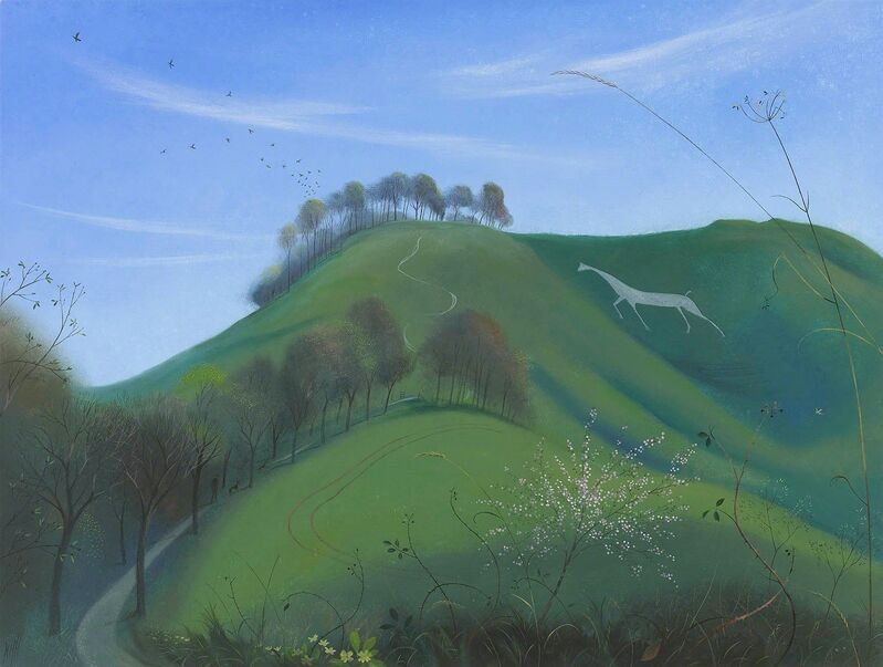 Nicholas Hely Hutchinson, 'The Cherhill White House in Early Spring', 2017, Painting, Oil on Canvas, Portland Gallery