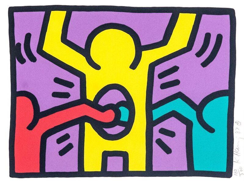 Keith Haring, 'Pop Shop I', 1987, Print, Screenprint on Paper, Gerald Hartinger Fine Arts
