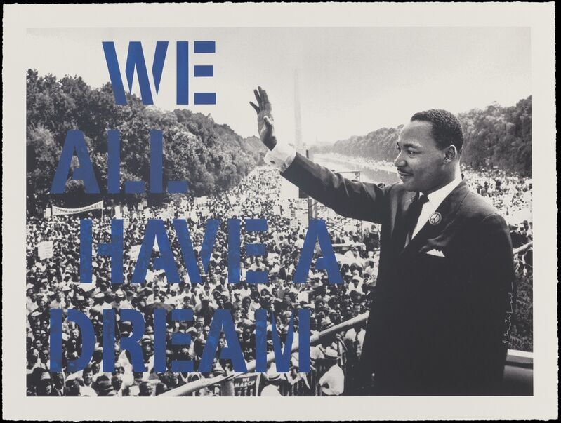 Mr. Brainwash, 'We All Have A Dream (Blue)', 2017, Print, Screenprint with hand finishing in colors on wove paper, Heritage Auctions