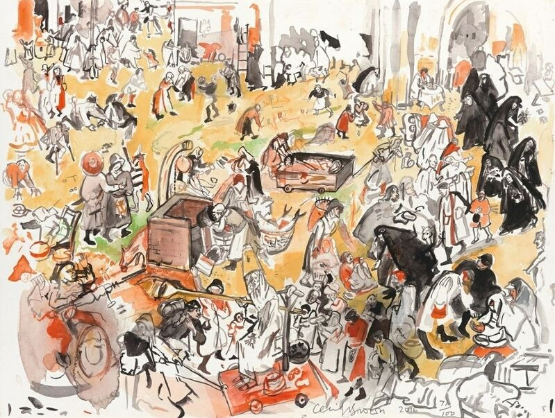 Cecily Brown, 'The Battle Between Carnival and Lent (after Bruegel)', 2017, Print, Archival pigment print on Hahnemüle paper, Artsy x Capsule Auctions