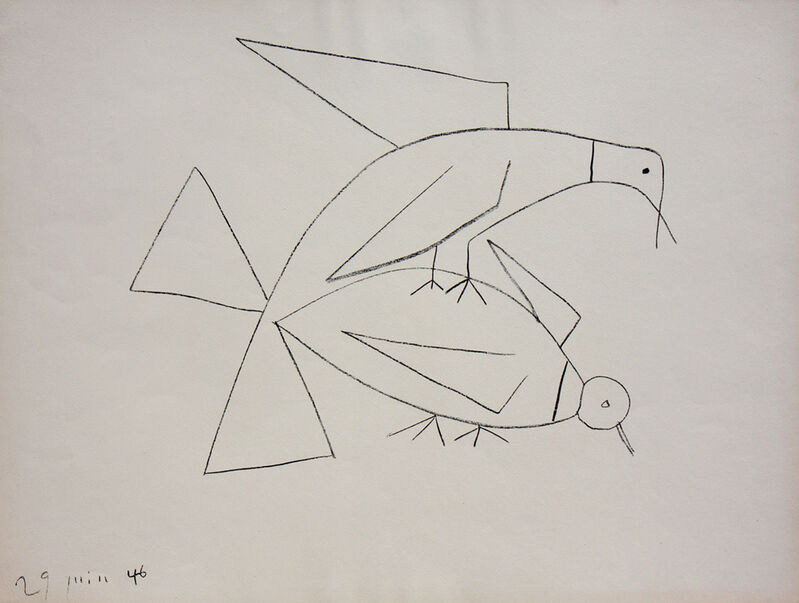 Pablo Picasso, 'Les Deux Tourterelles II (B. 406)', 1946, Print, Lithograph, Denis Bloch Fine Art