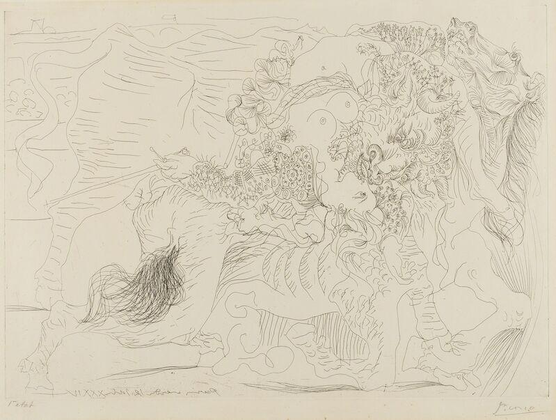 Pablo Picasso, 'Femme Torero I (Baer 425 C; Bloch 1329)', 1934, Print, Etching, Forum Auctions
