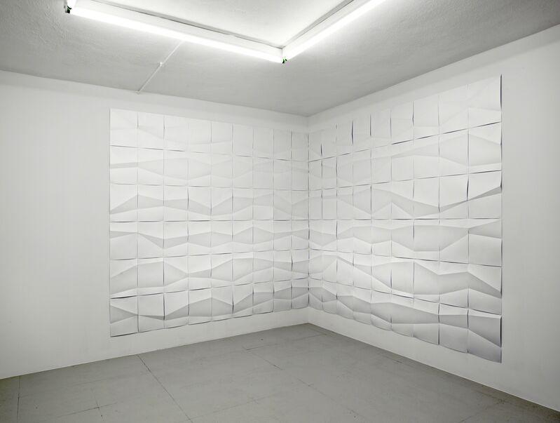 Ignacio Uriarte, 'Fluctuating Folds', 2012, Installation, Paper installation on wall, Nogueras Blanchard