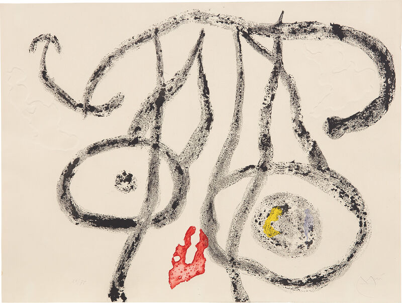 Joan Miró, 'Le Porteur d'eau II (The Water Carrier II)', 1962, Print, Aquatint with embossing in colors, on Rives BFK paper, the full sheet., Phillips