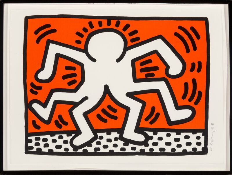 Keith Haring, 'Double Man, from Portfolio of 5 Artists in Support of Bill T. Jones/Arnie Zane & Company', 1986, Print, Lithograph in colors on wove paper, Heritage Auctions