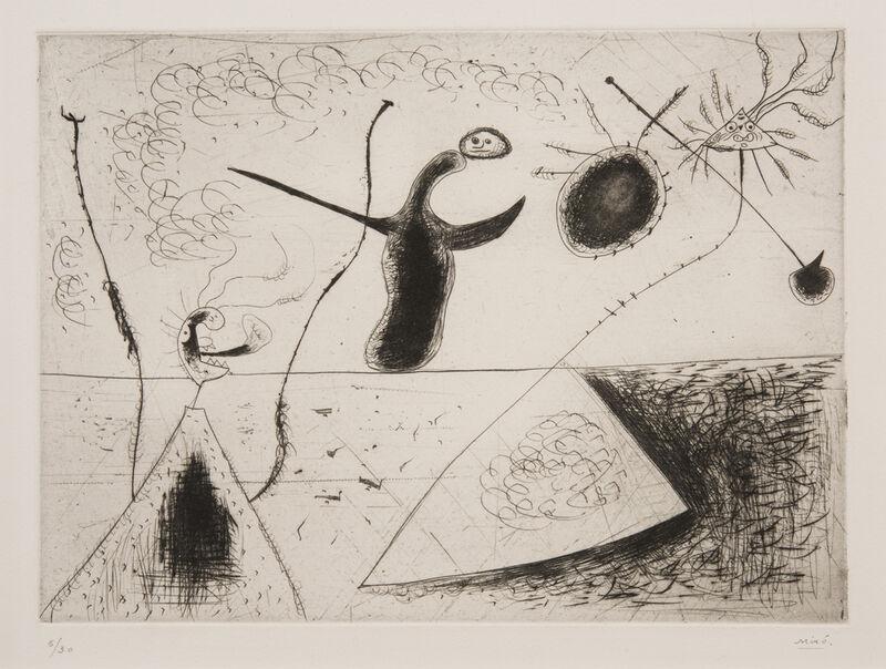 Joan Miró, 'La Ligne d'horizon', 1938, Print, Drypoint, Charles M. Young Fine Prints & Drawings LLC
