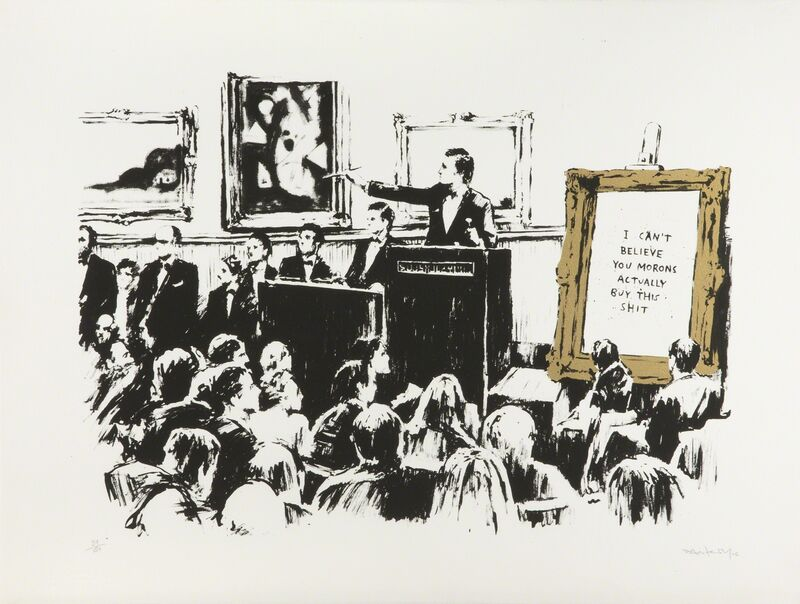 Banksy, 'Morons (White & Gold)', 2006, Sculpture, Silkscreen on paper, Julien's Auctions