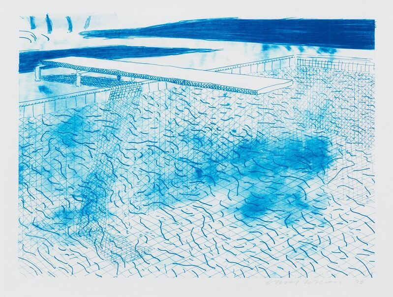 David Hockney, 'Lithograph of Water made of Lines', 1978, Print, Lithograph, F.L. Braswell Fine Art