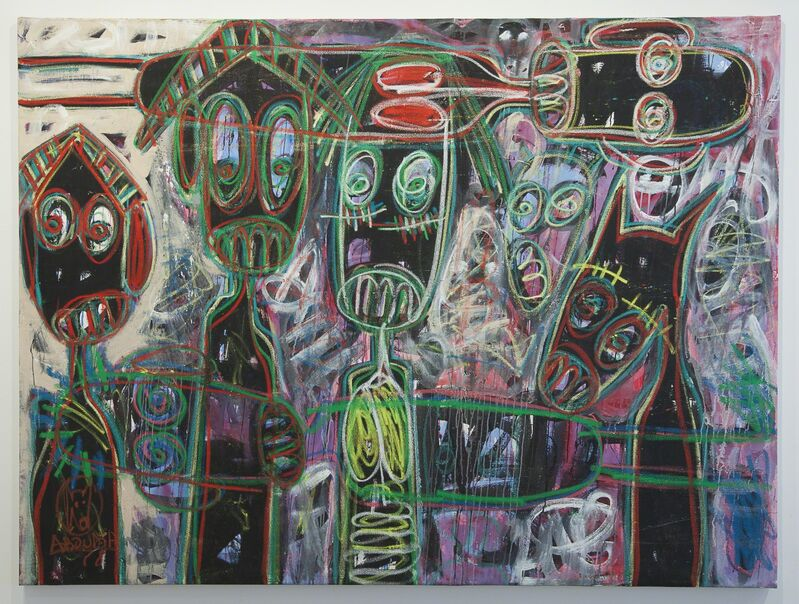 Aboudia, 'Untitled', 2015, Painting, Acrylic & oil pastel on canvas, Jack Bell Gallery