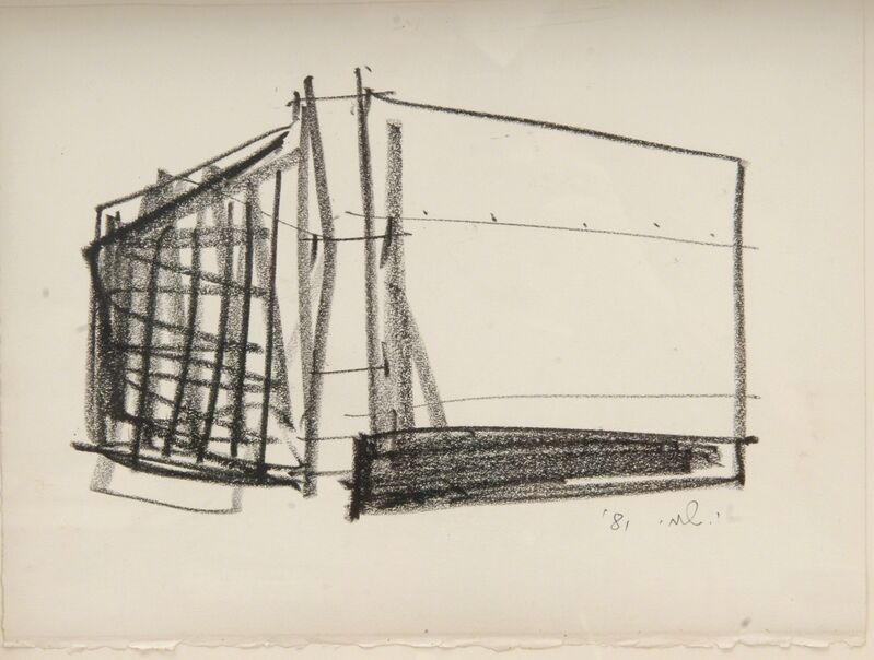 Yechiel Shemi, 'Untitled', 1981, Drawing, Collage or other Work on Paper, Black chalk on paper, Contemporary by Golconda