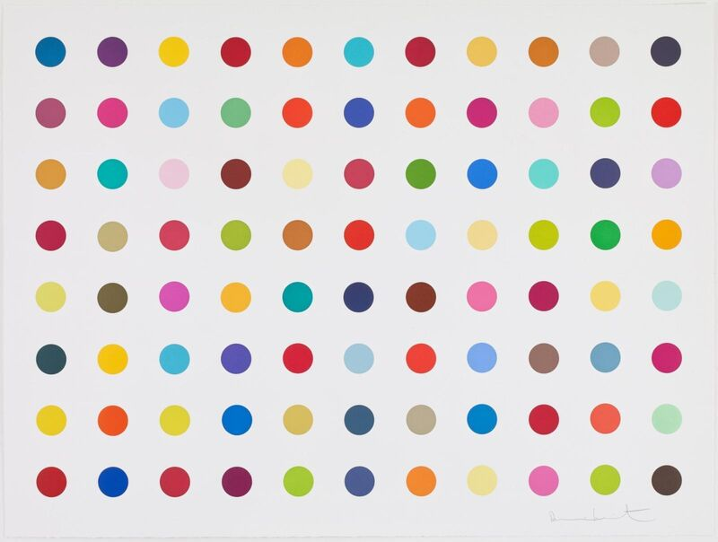 Damien Hirst, 'M-Fluorobenzylamine', 2018, Print, Woodcut, Vogtle Contemporary