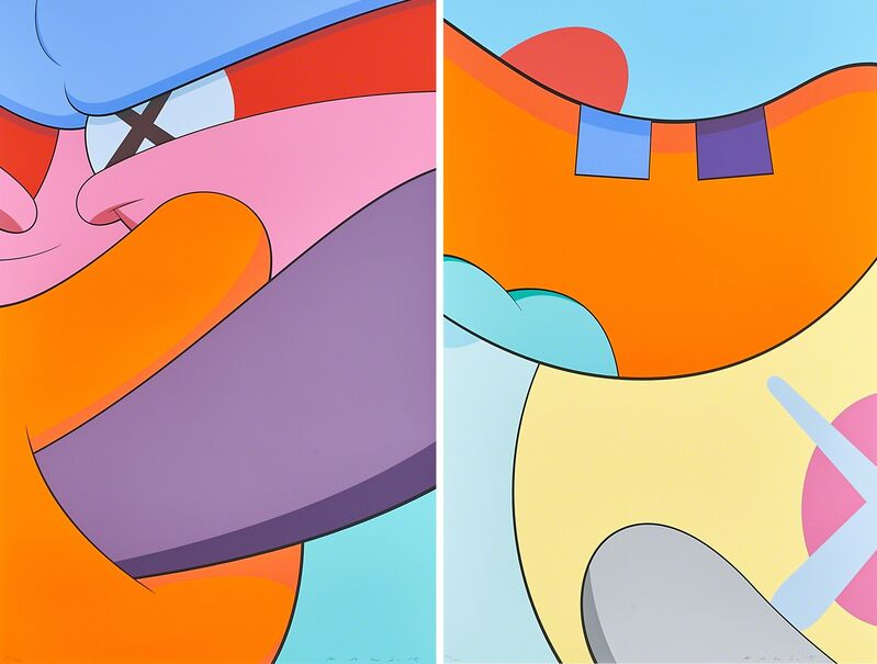 KAWS, 'No Reply', 2015, Print, Two screenprints in colors (from portfolio of 10), Rago/Wright