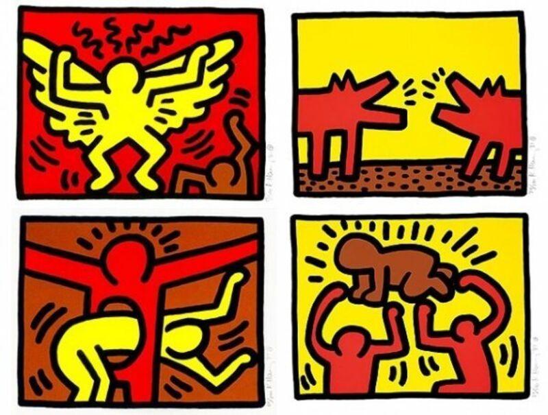 Keith Haring, 'POP SHOP QUAD IV', 1989, Print, Silkscreen with Flocking, Marcel Katz Art