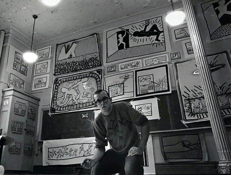 Keith Haring, 'Vintage Keith Haring photograph New York, 1980', 1980, Ephemera or Merchandise, Silver gelatin print, Lot 180