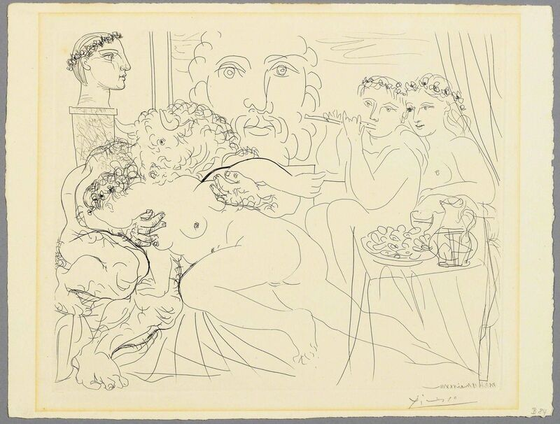 Pablo Picasso, 'Minotaure caressant une femme', 1933, Print, Etching and drypoint, Koller Auctions