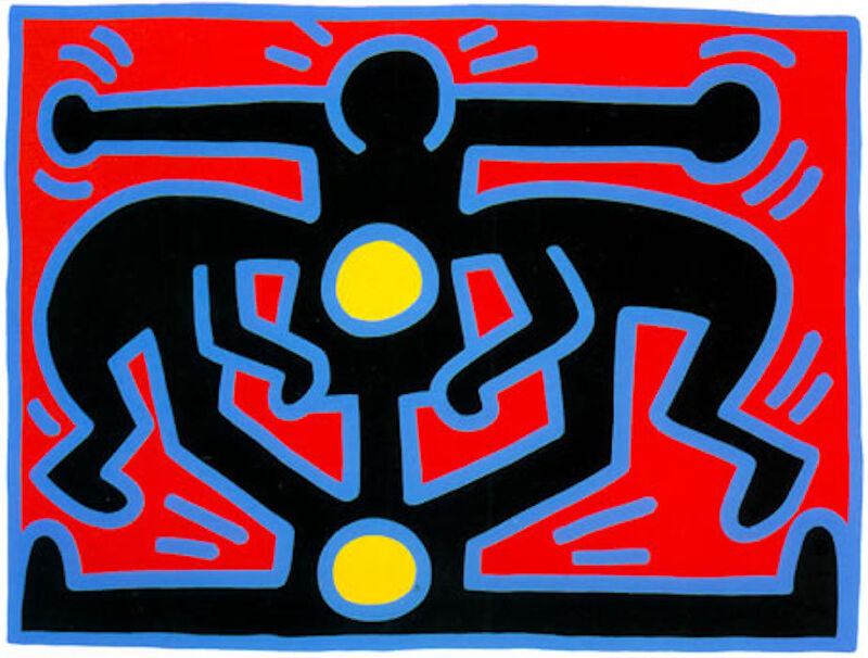 Keith Haring, 'Growing III', 1988, Print, Silk screen on paper, Gormleys Fine Art