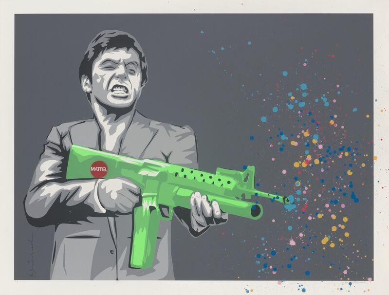 Mr. Brainwash, 'Montana Paintball', 2008, Print, Screenprint in colors with spray paint on Archival paper, Heritage Auctions