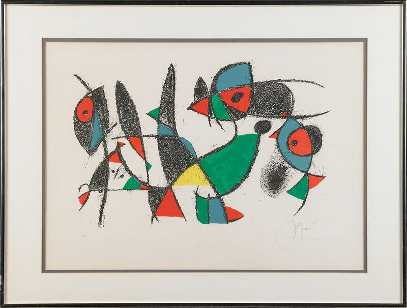 Joan Miró, 'Plate 10, from Lithographs ll', 1975, Print, Lithograph in colors, Rago/Wright