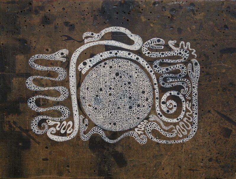 Memed Erdener a.k.a. Extrastruggle, 'Medusa', 2015, Painting, Acrylic on old MDF, Zilberman Gallery