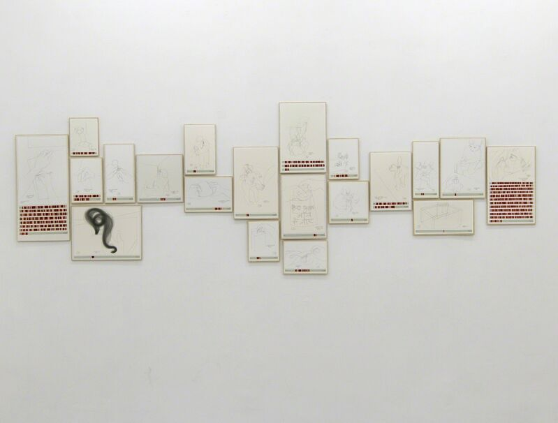 Danica Phelps, 'Income's Outcome', 2013, Drawing, Collage or other Work on Paper, Gouache and pen on paper, Galerie Michael Sturm