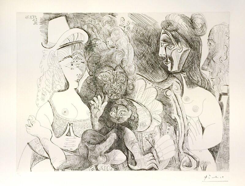 Pablo Picasso, 'La Fete de la Patronne ', 1971, Print, Etching, Wallector