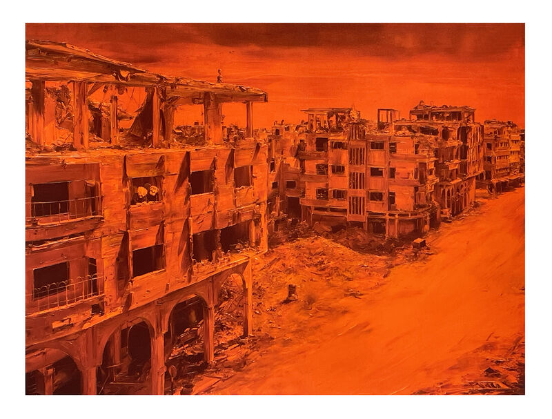 Paco Pomet, ''Siege'', 2021, Print, Giclée print on 330gsm fine art paper. Based on the artist's original work from his solo show at Galleri Benoni in Copenhagen., Signari Gallery